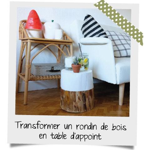 Transformer un rondin de bois en table basse