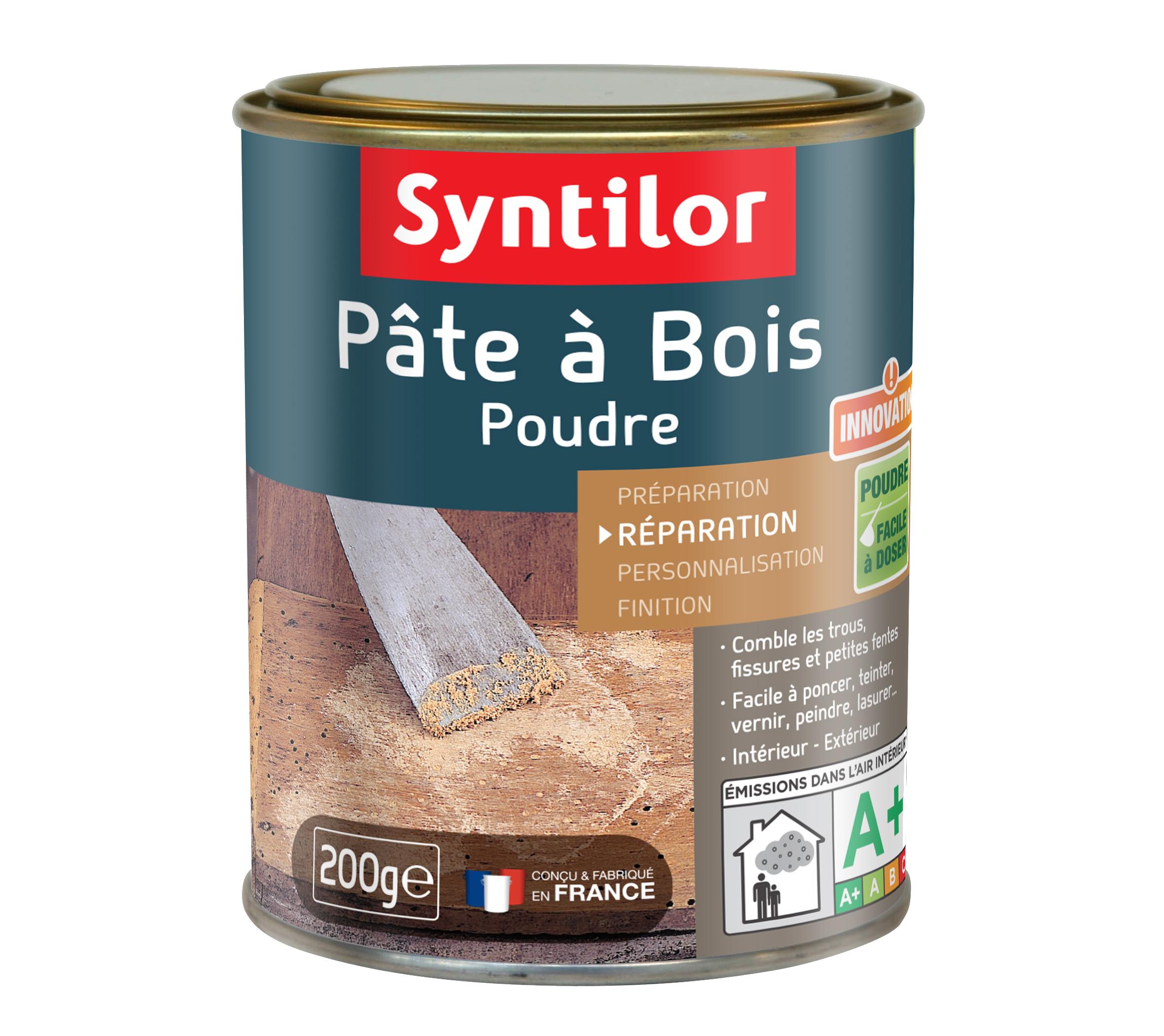 grâce à la pâte à bois syntilor réparez vos meubles et