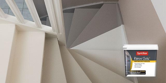 Escalier Après avec Rénov'Sol