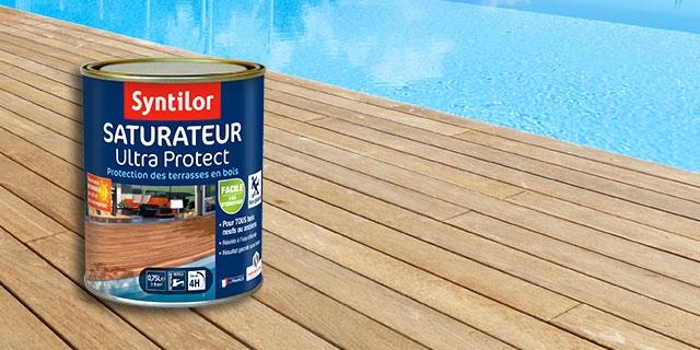 saturateur pour la décoration et la protection terrasse en bois