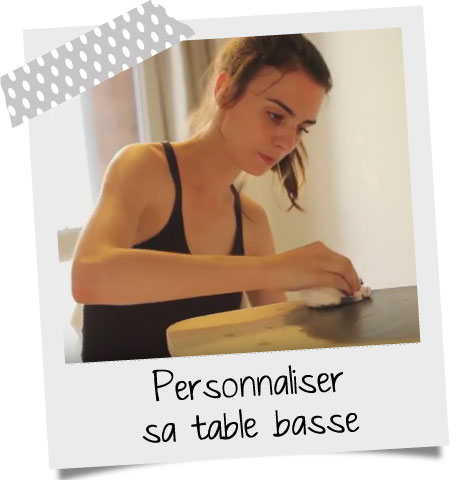Personnaliser une table basse scandinave