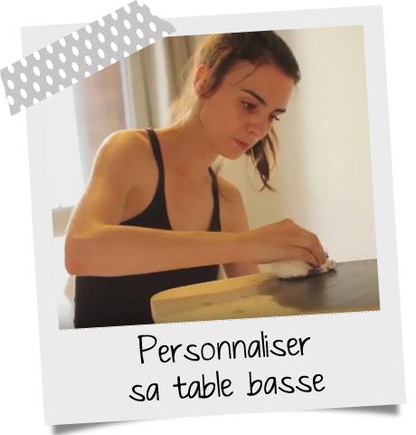Personnaliser une table basse scandinave