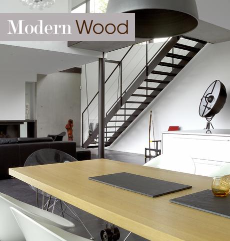 Style tendance modern wood lookbook